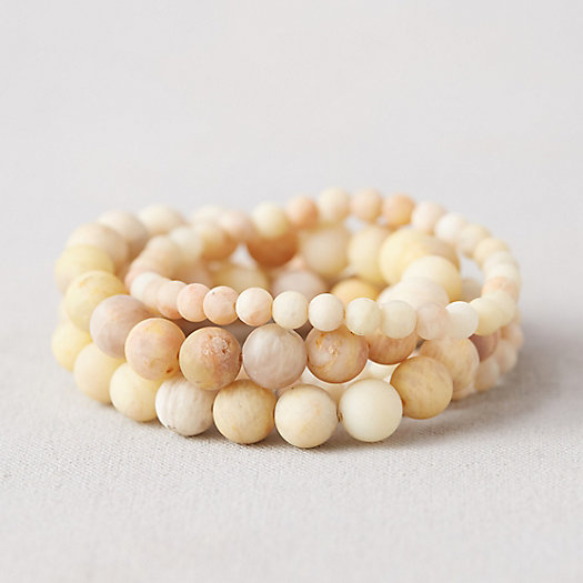 View larger image of Stone Bead Bracelets, Set of 5