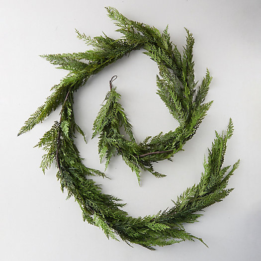 View larger image of Faux Cedar Garland