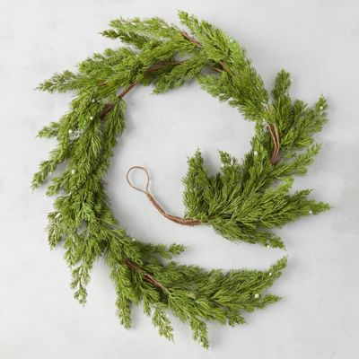 Faux Pine + Berry Garland