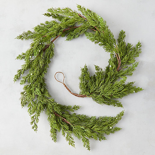 View larger image of Faux Pine + Berry Garland