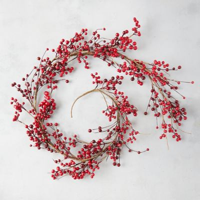 Faux Crimson Berries Garland