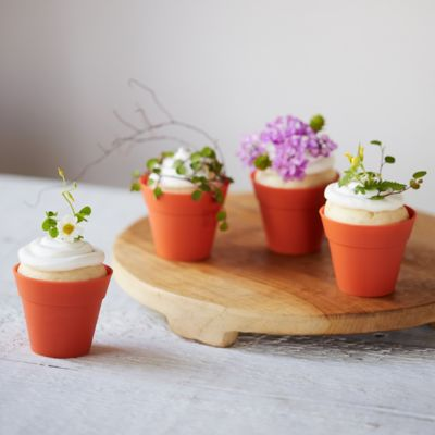 Flower Pot Baking Cups, Set of 10