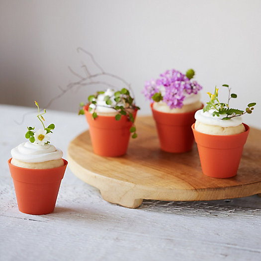 View larger image of Flower Pot Baking Cups, Set of 10
