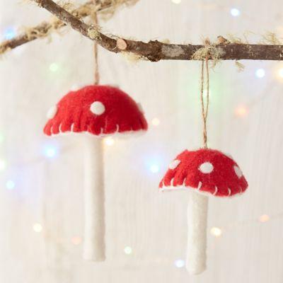 Woolly Mushroom Ornament