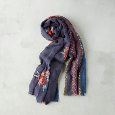 Stripes & Flowers Scarf