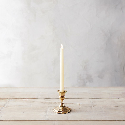 View larger image of Antiqued Brass Candlestick, Low