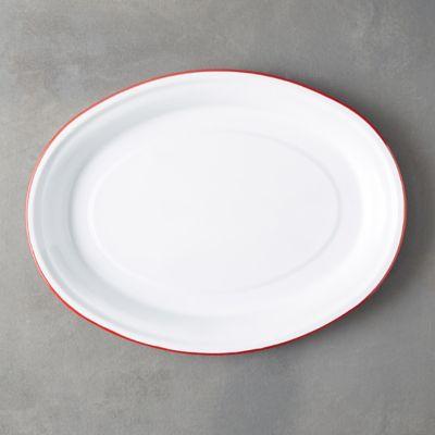Enamel Oval Platter
