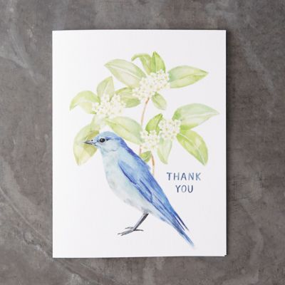Bluebird Thank You Card