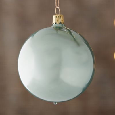 Pearly Glass Globe Ornament
