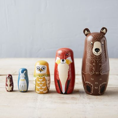 Woodland Nesting Doll Set