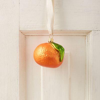Mandarin Orange Glass Ornament