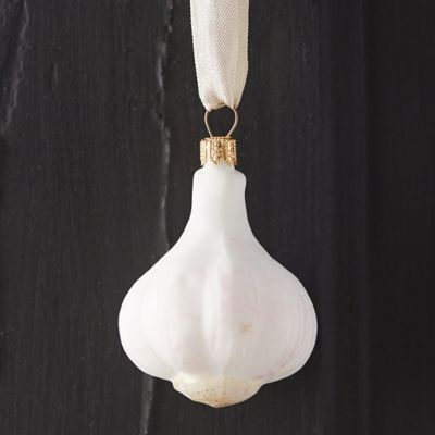 Garlic Bulb Glass Ornament