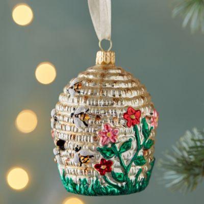 Beehive Glass Ornament