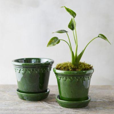 Købenler Green Glaze Palace Pot
