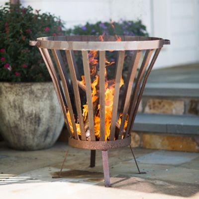 Steel Basket Fire Pit, Circle