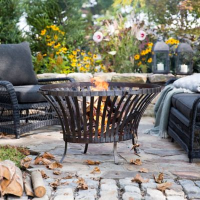 Steel Basket Fire Pit, Oval