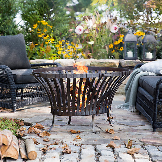 View larger image of Steel Basket Fire Pit, Oval