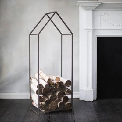 Iron House Log Holder
