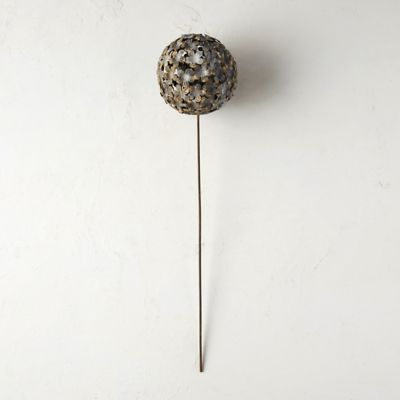 Aged Metal Globe Flower