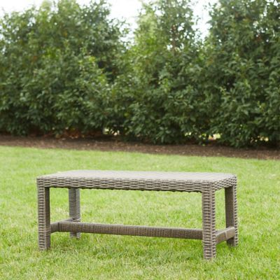 All Weather Wicker Square Leg Dining Bench