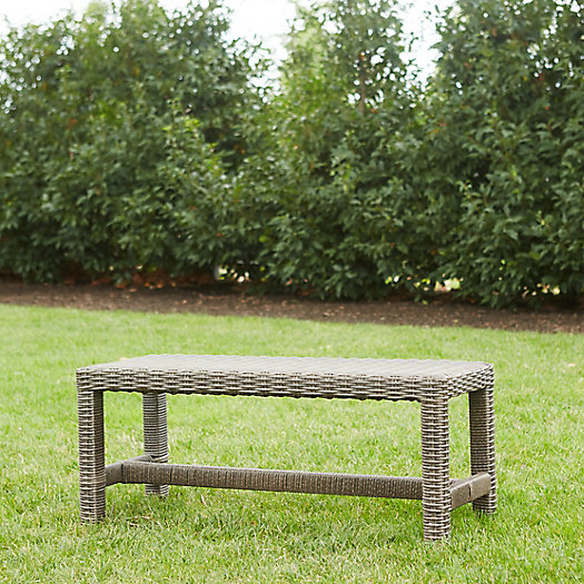 View larger image of All Weather Wicker Square Leg Dining Bench