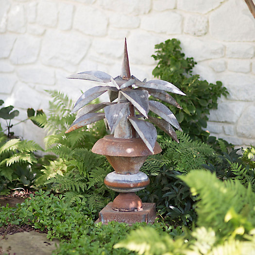 View larger image of Aged Iron Agave Urn