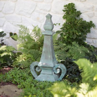 Verdigris Scroll Base Finial