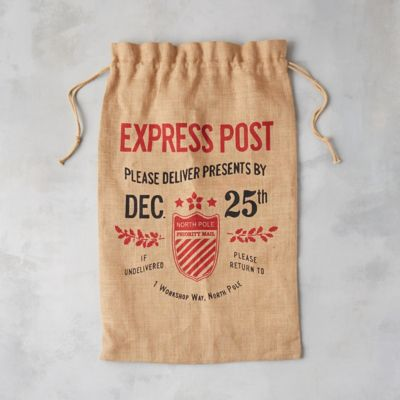 Santa's Workshop Jute Gift Sack