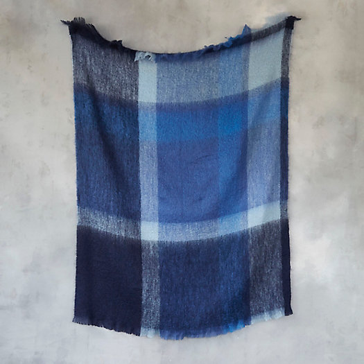 View larger image of Icy Plaid Mohair Throw
