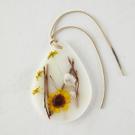 View larger image of Pressed Flower Wax Sachet, Honey Tobacco
