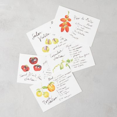 Heirloom Salsa Recipe Postcards