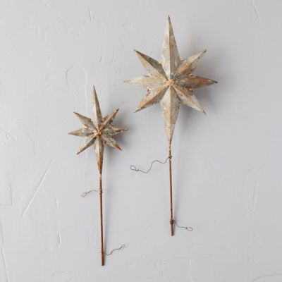 Aged Iron Star Tree Topper