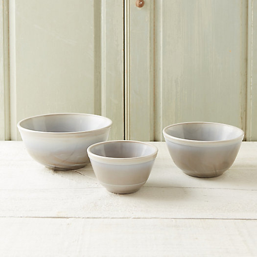 View larger image of Marbled Glass Mixing Bowl Set
