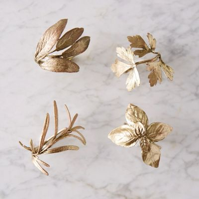 Italian Herb Napkin Rings, Set of 4