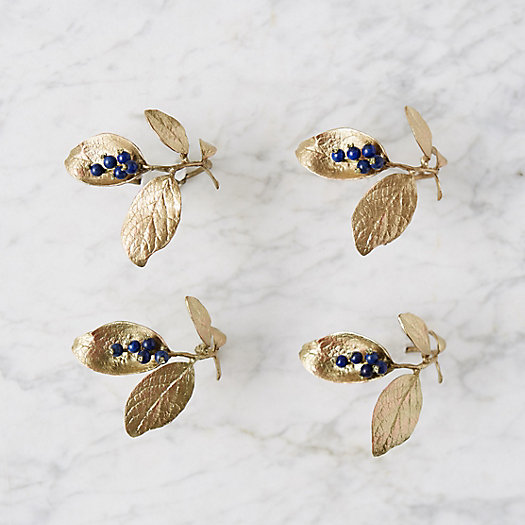 View larger image of Blueberry Stem Napkin Rings, Set of 4