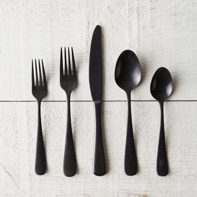 Matte Black Flatware Set