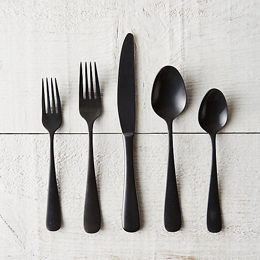View larger image of Matte Black Flatware Set