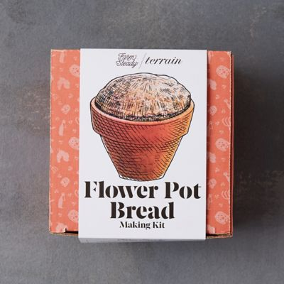 Flower Pot Bread Making Kit, Set of 4