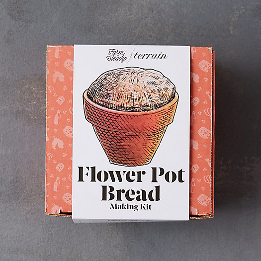 View larger image of Flower Pot Bread Making Kit, Set of 4