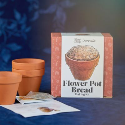 Flower Pot Bread Making Kit, Set of 4