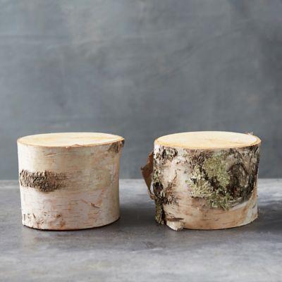 Birch Wood Cylinder Set