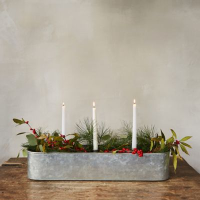 Candle Centerpiece Trough