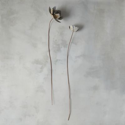 Aged Metal Flower