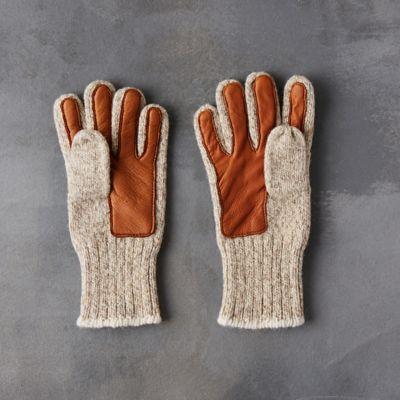 Women's Wool & Leather Gloves