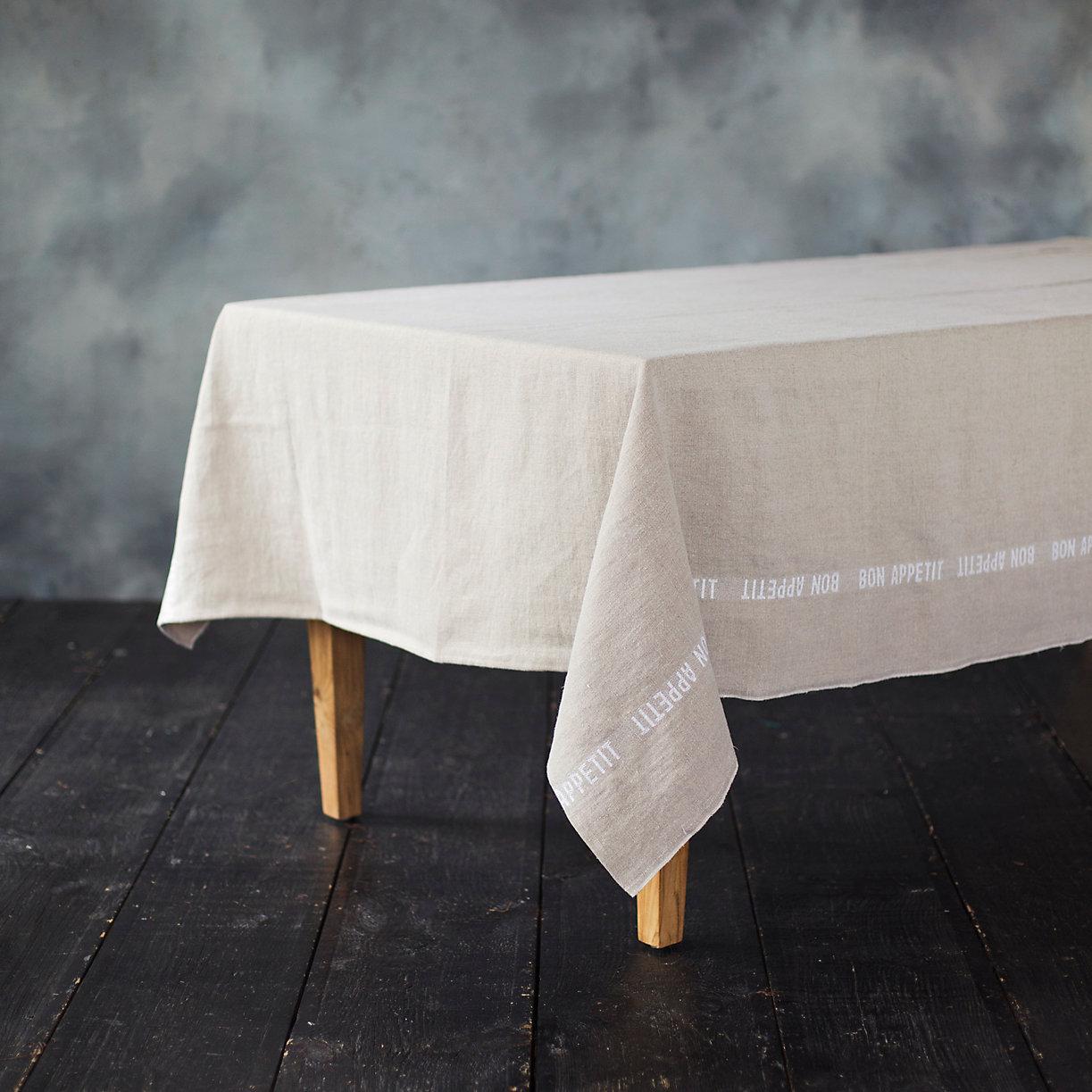 Bon Appetit Linen Tablecloth