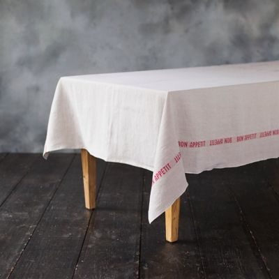 Bon Appetit Linen Tablecloth