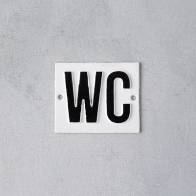 Cast Iron WC Sign