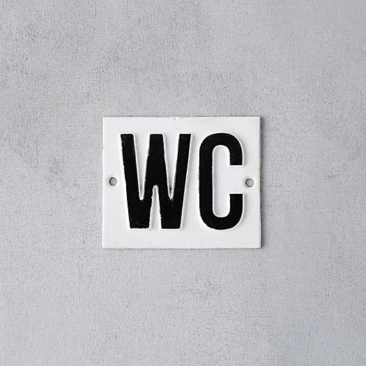 View larger image of Cast Iron WC Sign