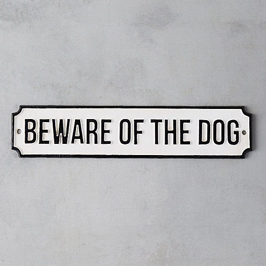View larger image of Cast Iron Beware of Dog Sign