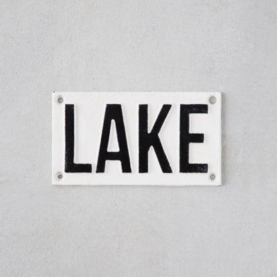 Cast Iron Lake Sign